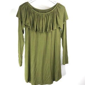 Chaser Shirred Off Shoulder Dress Cool Jersey Mini